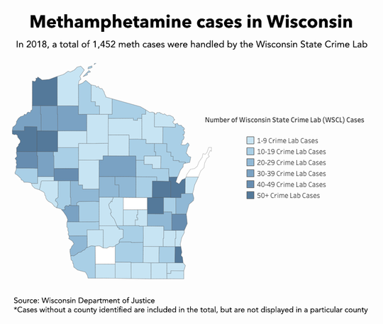 A look at methamphetamine cases in Wisconsin.