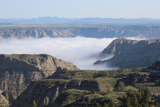 Fog settles in to the Missouri River Valley adjacent to the proposed Whiskey Ridge Conservation Easement