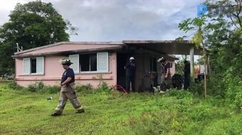 Guam Fire Department personnel respond to a fire reported at 214 Chalan Ottot in Astumbo, Dededo on Tuesday, Oct. 15, 2019. The home was unoccupied at the time of the blaze and GFD investigators are working to determine the cause of the blaze, said firefighter Kevin Reilly, GFD spokesman.