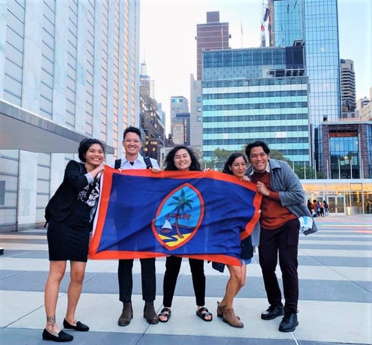 Members of I Hagan Famalåo'an Guåhan at the United Nations in New York.
