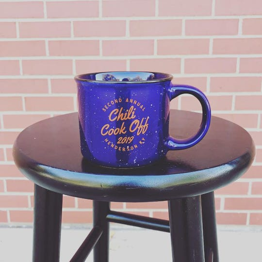 Get your Chili Cook-Off mug at the Downtown Henderson Partnership Offices or at the event on Saturday.