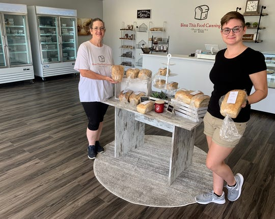 Teresa Sones, left, owns Bless This Food Catering in Flora, and her daughter, Sarah Sones, manages the new storefront location in Cotton Exchange Plaza shopping center.