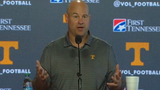 Tennessee coach Jeremy Pruitt previews the Vols' upcoming game against Alabama.