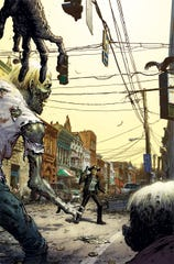 "A Walking Dead illustration by Kentucky native and ""Walking Dead"" co-creator Tony Moore."