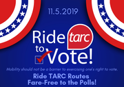 TARC is offering free rides to vote on Nov. 5.