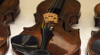 More than 50 restored violins played by Jewish musicians during the Holocaust will be on display at the Frazier History Museum.