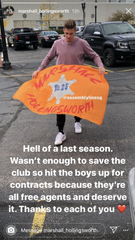 "In a post on his Instagram Stories, Lansing Ignite midfielder Marshall Hollingsworth wrote that the players couldn't ""save the club"" despite the success and that everyone was now a free agent."