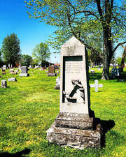 This monument in Two Rivers' Pioneers' Rest Cemetery marks the mass grave of unknown sailors who perished in the wreck of the SS Vernon on Oct. 28, 1886.