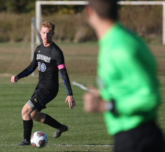 Ontario's Will Dotson recorded one of the most impressive assists of the season as he sent a free kick from midfield and found Kyle Woods for a header in the Warriors' 3-0 win over Clear Fork on Saturday.