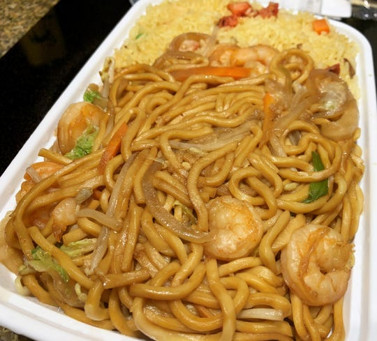 Shrimp lo mein from Jackie's Chinese Restaurant, Marco Island.