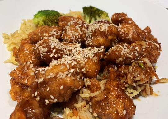 Sesame chicken from Jackie's Chinese Restaurant, Marco Island.