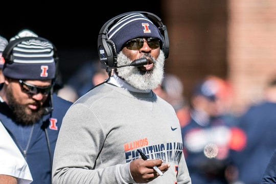 In his three games against Wisconsin since taking over at Illinois, head coach Lovie Smith is 0-3 and the Illini have been outscored by a combined 121-33.