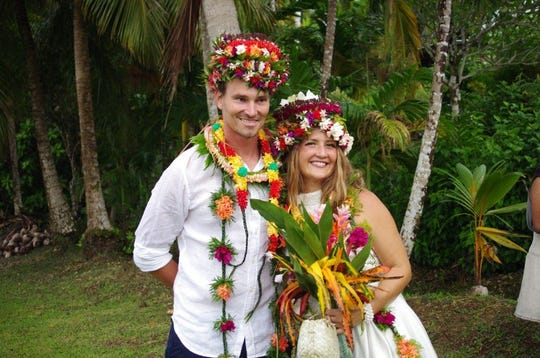 Simon Hammerling and Rachelle Bergeron got married in Yap on Oct. 25, 2018.