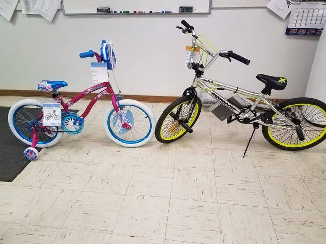 The Gassville Fire Department Auxiliary will be at Walmart in Mountain Home at both entrances from 10-a.m.-4 p.m. Saturday, Oct. 26, selling tickets for their bike give-away. Tickets are $1 per ticket, or six tickets for $5. The winner of the bikes will be announced in December, just in time for Christmas. Also, GVFD firefighters will be on hand to collect donations in their boots.All funds raised go to purchasing new turnouts for the firefighters.The Auxiliary's purpose is to support the Gassville Volunteer Fire Department.For information, call (870) 435-6119 or visit the group's Facebook page athttps://www.facebook.com/GassvilleFDAuxil.