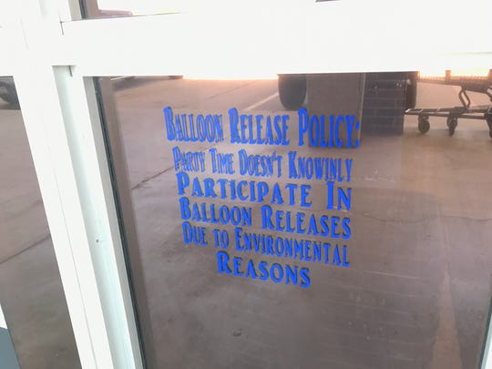 Party Time Supplies LLC in Monroe doesn't provide balloons for releases because of the owners' concerns about the repercussions on the environment.