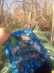 Dean Matherne fished this balloon out of Black Bayou Lake while kayaking on Jan. 6.