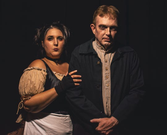 "Center for the Arts, 110 W. College St. in Murfreesboro, presents ""Sweeney Todd"" on stage."
