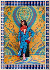 "Hassan Hajja, ""Lisa,"" 2015, metallic Lambda print on dibond, handmade frame, Pepsi cans."