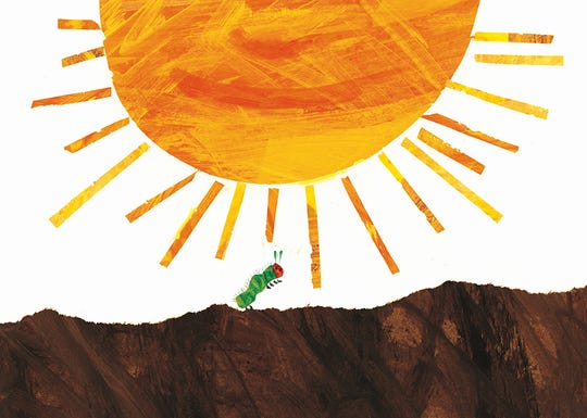 "An illustration from Eric Carle's ""The Very Hungry Caterpillar."""