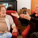 Songwriter Steve Dorff, left, talks with Bart Herbison.