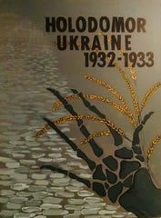 The Ukrainian Holodomor exhibition poster by Luba Drahosz