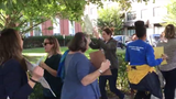 Montclair teachers and staff protest paycheck problems, including a glitch that resulted in no paycheck at all for those enrolled in direct deposit.