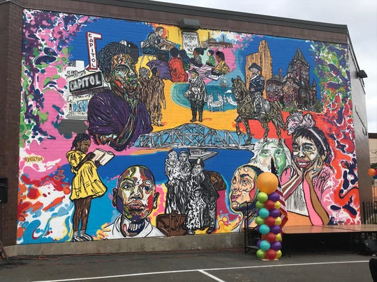 "A full-on shot of Fumero's mural ""The History of Passaic"" which was dedicated on Oct. 14."
