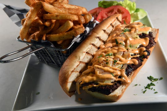 Steak Sandwich with Fries at Brownstone Pancake House in Englewood Cliffs on Tuesday, October, 15, 2019.