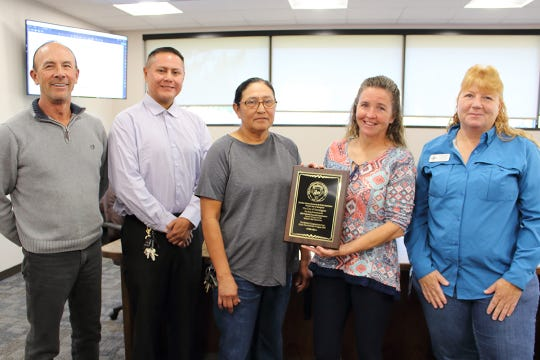 The Ricketts Park grounds crew is recognized after winning the New Mexico Recreation and Parks Association's 2019 Parks and Grounds Maintenance Award.