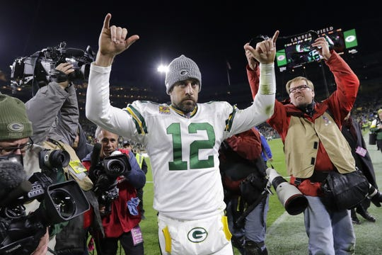 Aaron Rodgers was selected to the NFL's and Pro Football Hall of Fame's 2010s all-decade team.