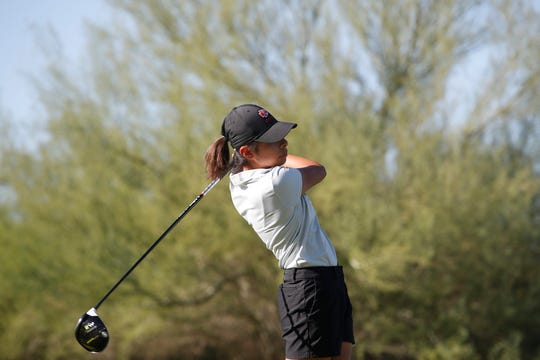 Kayla Escamilla of Palm Desert helped the Aztecs to a victory over La Quinta on Tuesday.