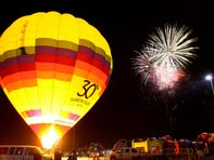 During the Spooktacular Hot Air Balloon Festival, guests can see fireworks and glowing hot air balloons.