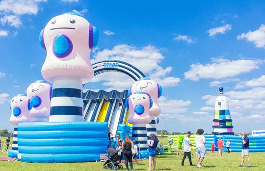 There are multiple inflatable features as part of The Big Bounce America tour headed to Phoenix Oct. 25-27 and Nov. 1-3, 2019.
