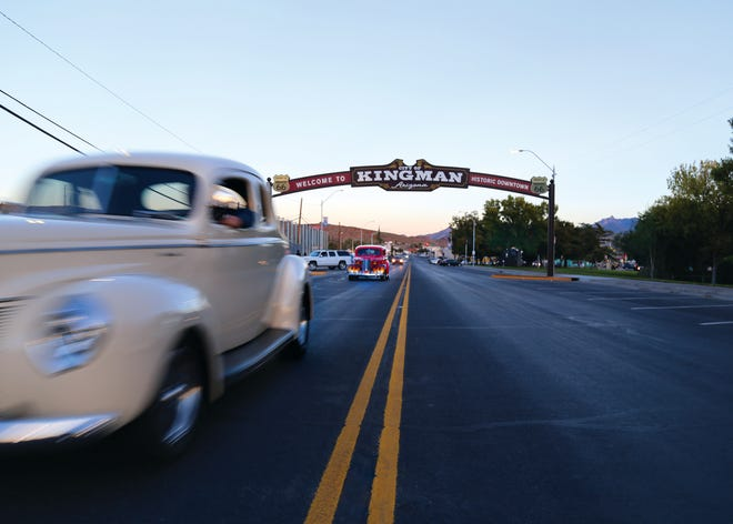 Classic cars often can be seen cruising Kingman, where Route 66 still has a strong influence on tourism.