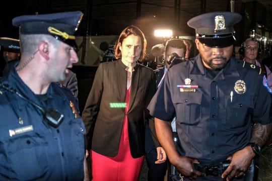 Fiona Hill, ex asesora de Trump para Rusia, a su llegada el Capitolio.