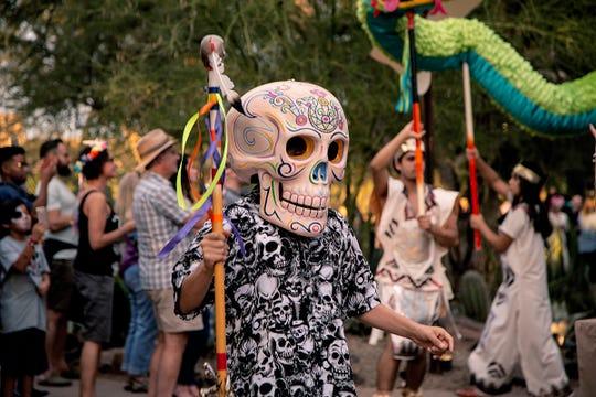 Día de los Muertos en el Jardín Botánico de Phoenix.