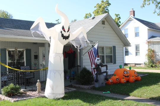 Homeowners in Port Clinton are getting festive as Halloween continues to draw near.