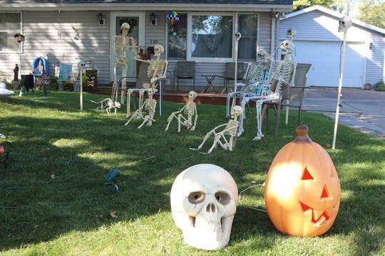 This home on Taft Street owned by the Sneary family is now hosting a whole brood of bones as Port Clinton gets in the Halloween spirit.