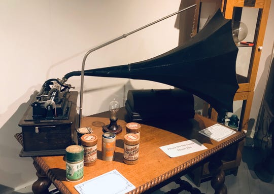 Thomas Edison's cyllinder phonograph is among the few artifacts related to him at the Port Huron Museum's Carnegie Center.
