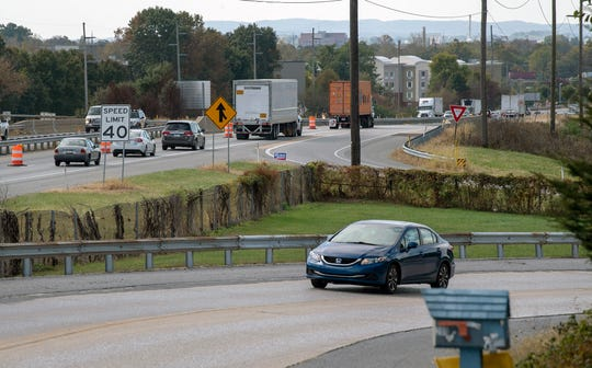 The westbound lanes of Route 30 are narrowed to one lane over the Memory Lane bridge on Springettsbury Township.