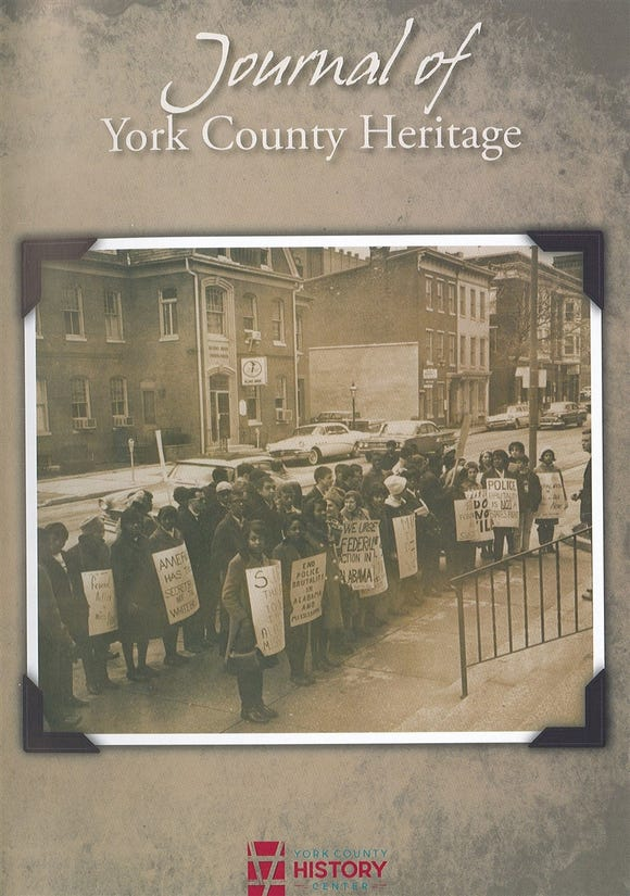 The York County History Center's Journal of York County Heritage was themed in 2019 with articles related to the York race riots of the late 1960s, plus stories about race and ethnicity. David A. Latzko's article was one of five in this annual magazine.