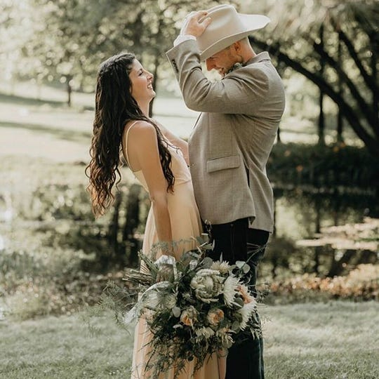 Sarah and Jeff Inch married in 2018 at her parents' property in New Oxford. They planned their wedding in about two months, Sarah said. She found her dress from an online boutique and chose a blush color to be different.