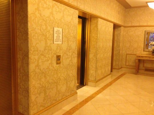 Elevators at the Westgate Las Vegas Resort & Casino, supposedly haunted.
