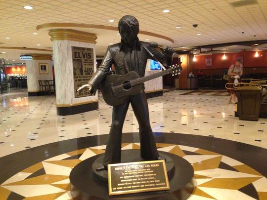 Statue of Elvis Presley at the Westgate Las Vegas Resort & Casino.