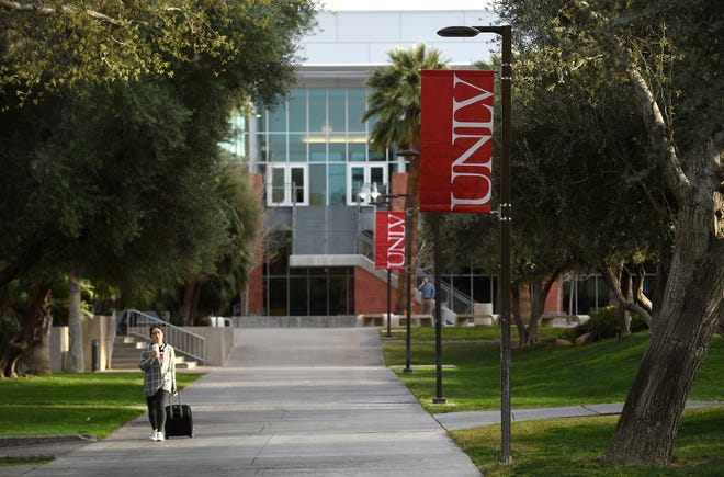 The UNLV campus is seen in Las Vegas on March 11, 2017.