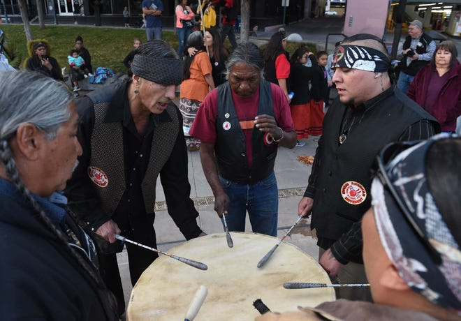 Reno, Nevada, held its first Indigenous Peoples' Day on Oct. 14. People sang to the beat of native drums, spoke, prayed and listened.