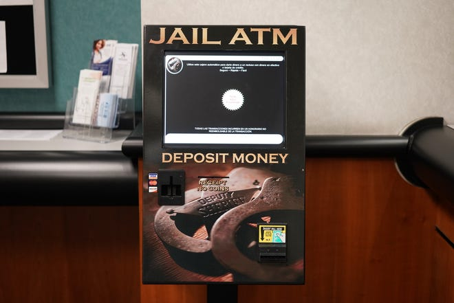A photo showing the newly installed JailATM at the Reno Justice Court. The kiosk would allow friends and family members to deposit money directly to an inmate at the Washoe County Detention Facility.