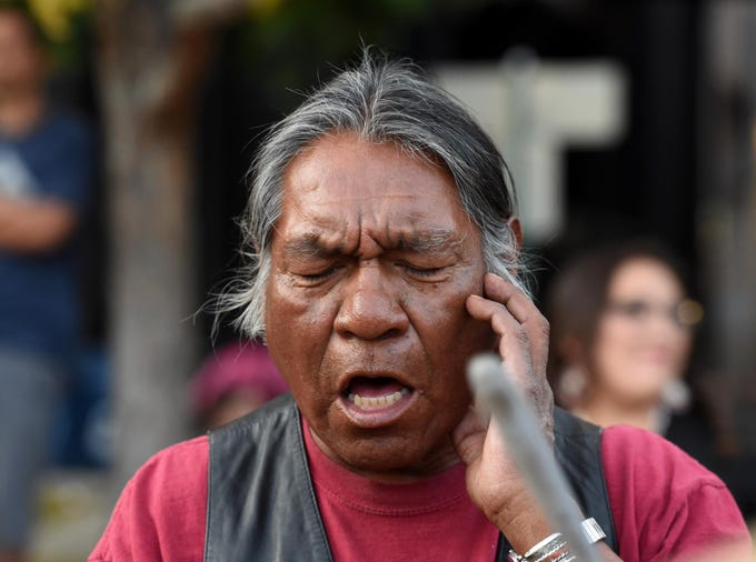 Images from Reno's first Indigenous Peoples Day at The City Plaza on Monday evening. People sang to beat of native drums, spoke, prayed and listened. Indigenous Peoples Day will be celebrated every year on the 2nd Monday of October, replacing Columbus Day.
