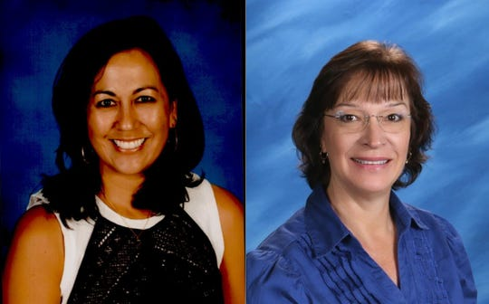 Washoe County School DIstrict teachers  Suzette Champagne of Jessie Beck and  Christine Donahue of  Hunsberger Elementary were awarded excellence in teaching math and science awards by President Donald Trump.
