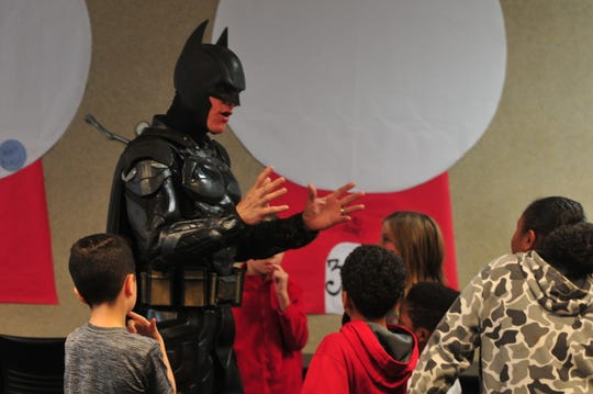 Batman is in Wayne County this week, not to promote a movie or fight crime, but to empower area youth to overcome their circumstances.